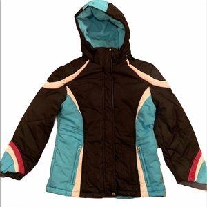 Hawke & Co girl's winter hooded coat size 14 (L)